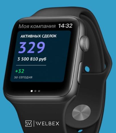 приложение для Apple Watch, amoCRM и Apple Watch